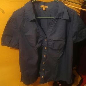 *5 for $20*Blue fashion bug blouse size 2x
